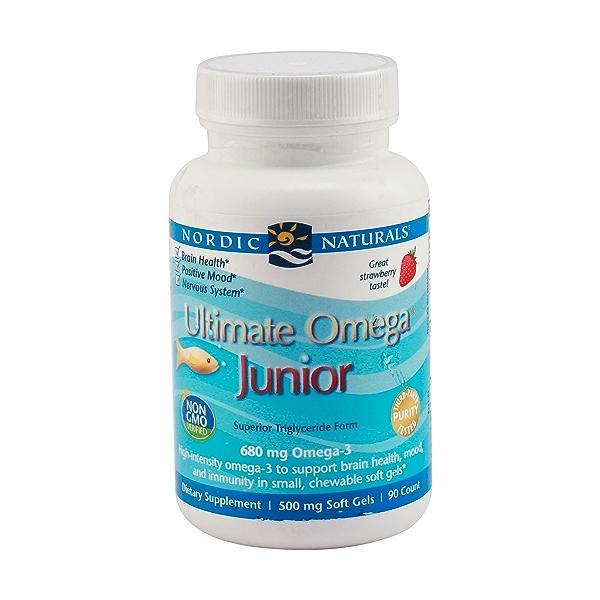 Junior Ultimate Omega Chewable Softgels, 680 Mg, 90 softgels 1