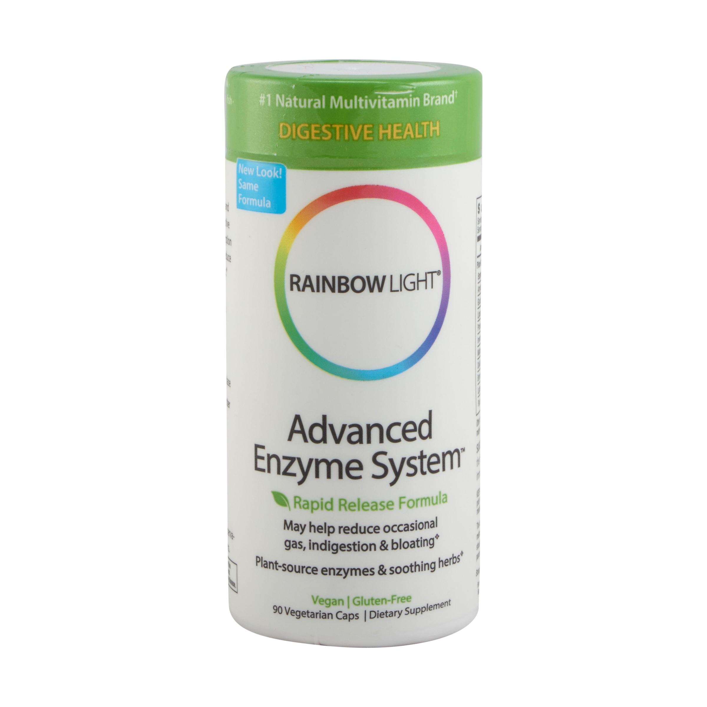 Rainbow Light Fortgeschrittene Enzyme System Kapseln Pflanze Verdauungs 2 Größen