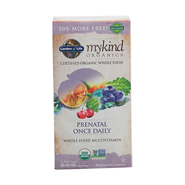 Organic Mykind Prenatal Once Daily, 108 tablets 1