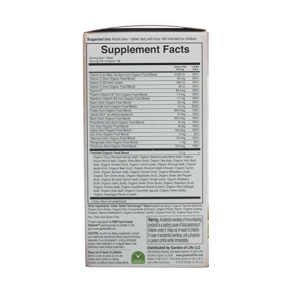 Organic Mykind Prenatal Once Daily, 108 tablets 3