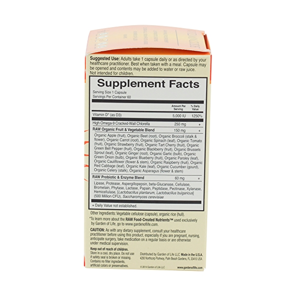 Vitamin Code Raw D3 5000, 60 capsules 3