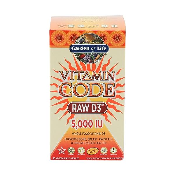 Vitamin Code Raw D3 5000, 60 capsules 1