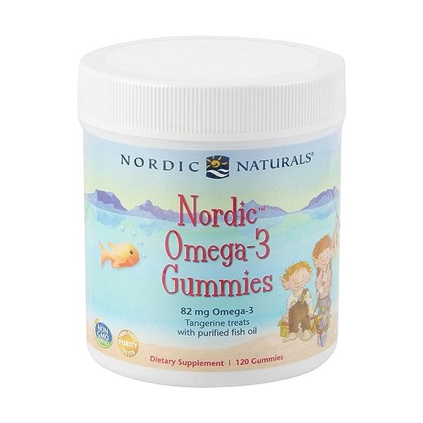 Nordic Omega 3 Gummies, 120 gummies 1