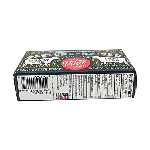 Sea-Salted Pasture-Raised Butter, 8 ounce 3