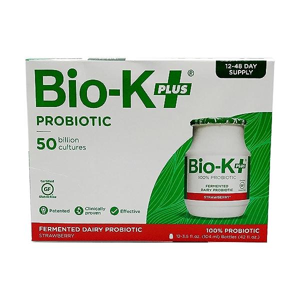 Strawberry Fermented Dairy Probiotic (12 pk), 42 fl oz 1