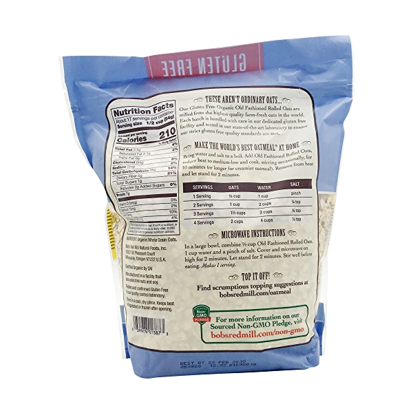 Organic Old Fashioned Rolled Oats, 32 oz 2