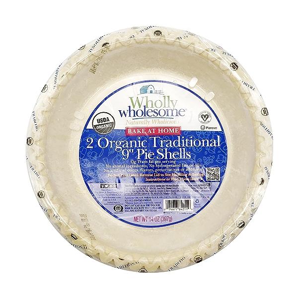 """2 Organic Traditional 9"""" Pie Shells, 14 oz 1"""