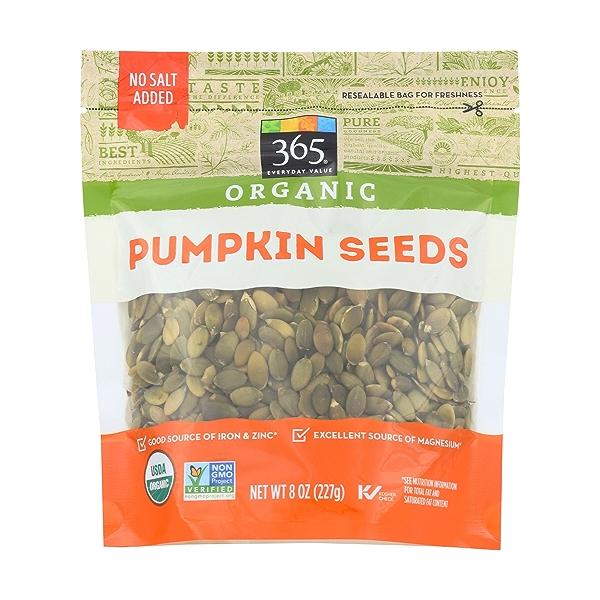 Organic Pumpkin Seeds, 8 ounce 1