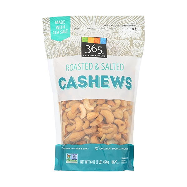 Roasted And Salted Cashews, 16 ounce 1