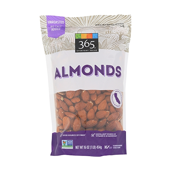 Raw Almonds (Steam Pasteurized), 16 ounce 1