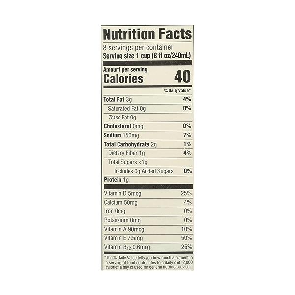 Unsweetened Almondmilk, 64 fluid ounce 4