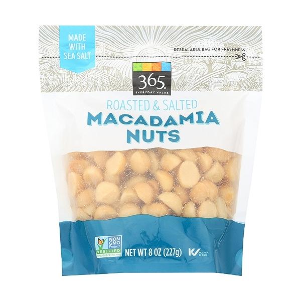 Roasted & Salted Macadamia Nuts, 8 ounce 1
