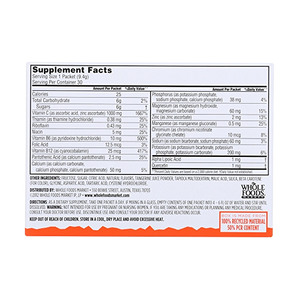 Tangerine Effervescent Vitamin C Drink Mix Box 30Ct 2