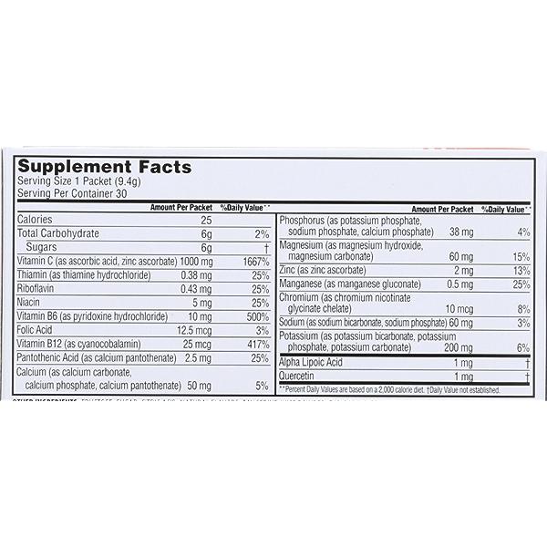Tangerine Effervescent Vitamin C Drink Mix Box 30Ct 4