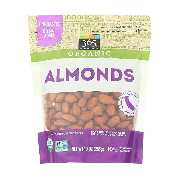 Organic Raw Almonds, 10 ounce 1