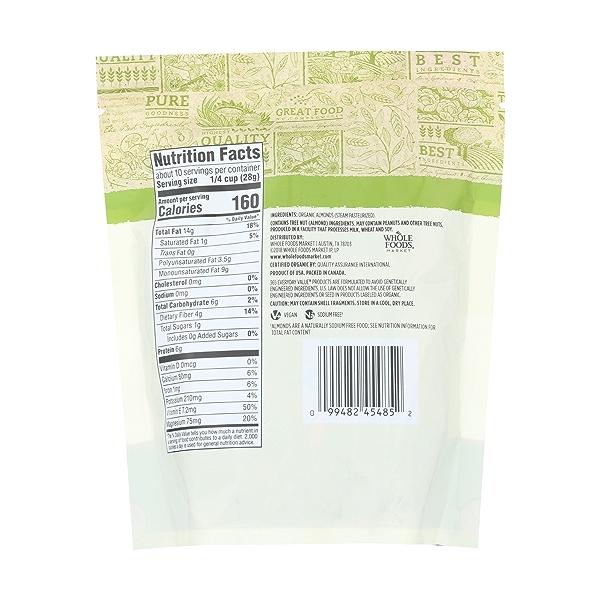 Organic Raw Almonds, 10 ounce 2