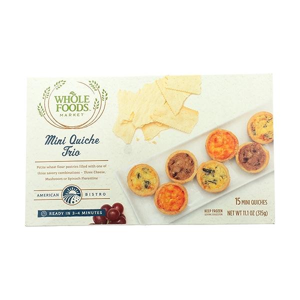 American Bistro Vegetarian Mini Quiche Trio Pastries, 15 each 1