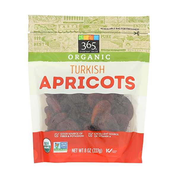Organic Turkish Value Apricots, 8 ounce 1