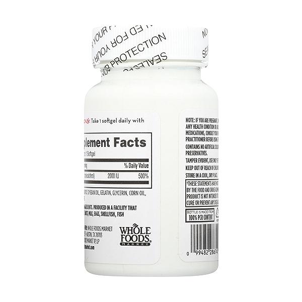 Vitamin D3 Softgels, 2000 IU, 250 count 2