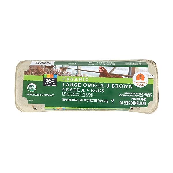 Organic Large Omega-3 Brown Grade A Eggs, 1 Dozen, 24 ounce 1