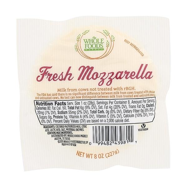 Fresh Mozzarella, 8 Oz. 1
