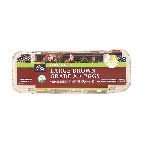 Organic Large Brown Grade A Eggs, 1 Doz. 1