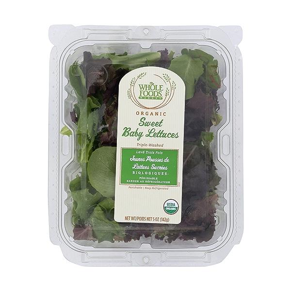 Organic Sweet Baby Lettuces 1