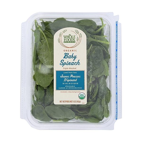 Organic Baby Spinach 1