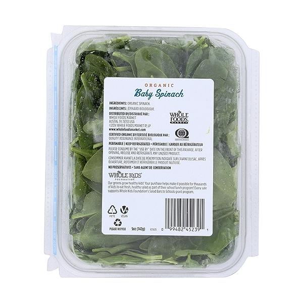 Organic Baby Spinach 2