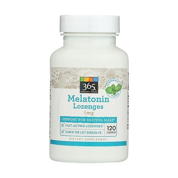 Melatonin Lozenges, 1 mg, 120 count 1