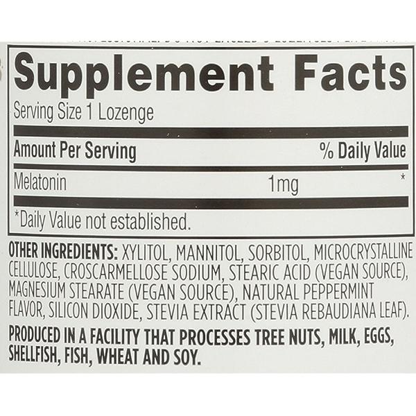 Melatonin Lozenges, 1 mg, 120 count 4