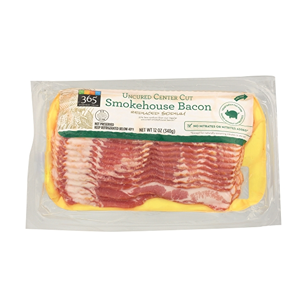 Uncured Center Cut Smokehouse Bacon - Reduced Sodium 1
