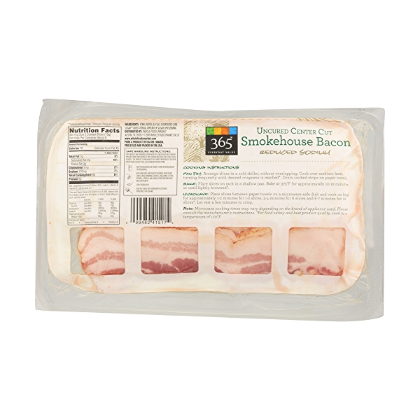 Uncured Center Cut Smokehouse Bacon - Reduced Sodium 2