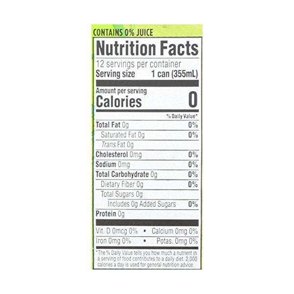 Lime Sparkling Water, 12 count 4