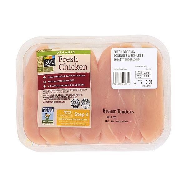 Organic Chicken Breast Tenderloins 1