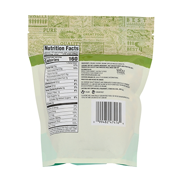 Organic Roasted & Unsalted Cashews, 10 ounce 2