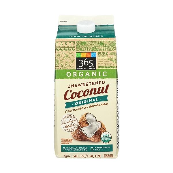 Unsweetened Original Organic Coconut Milk, 64 fluid ounce 1