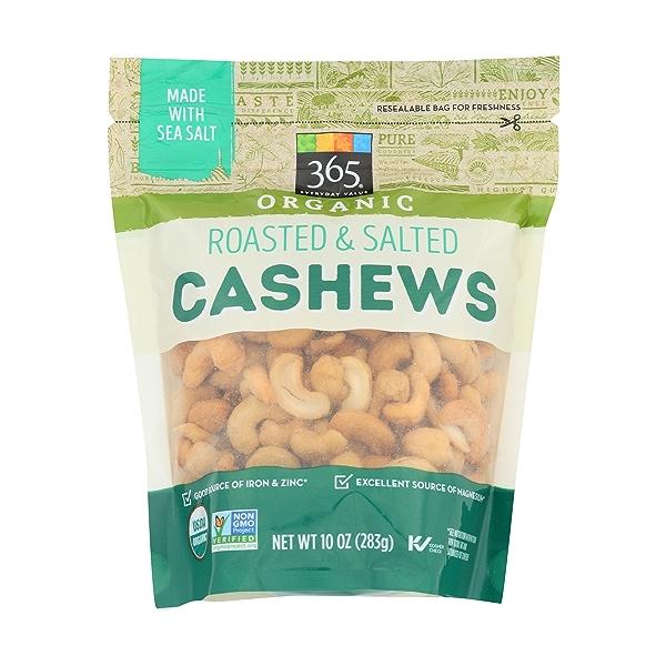Organic Roasted & Salted Cashews, 10 ounce 1