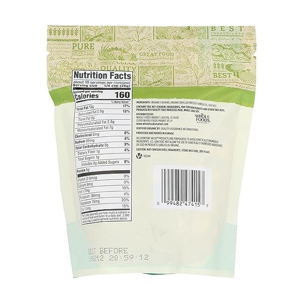 Organic Roasted & Salted Cashews, 10 ounce 2