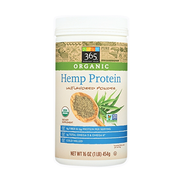 Unflavored Powder Hemp Protein, 16 ounce 1
