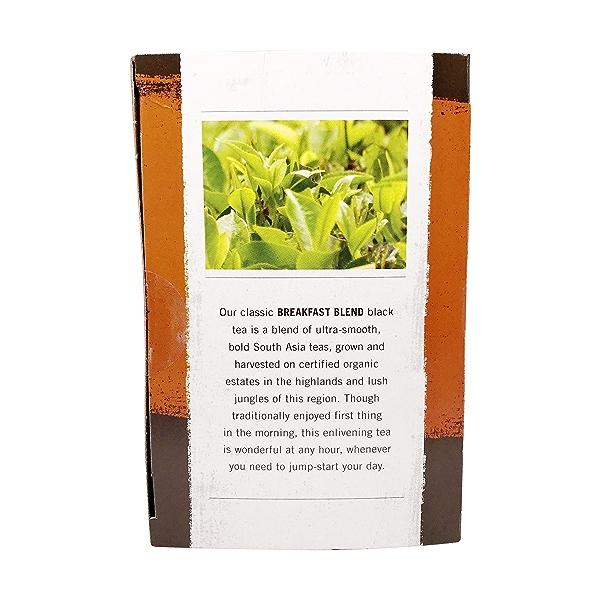 Organic Breakfast Blend Black Tea, 20 tea bags 4