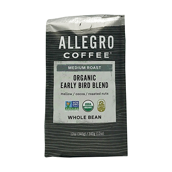 Organic Medium Early Bird Blend Whole Bean Coffee, 12 oz 1
