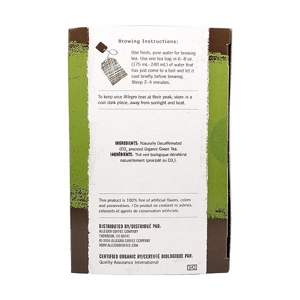 Organic Decaf Green Tea, 1.4 oz 2