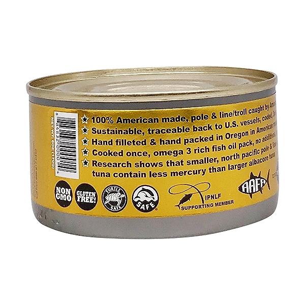 Pole Caught Albacore Tuna With Salt 4