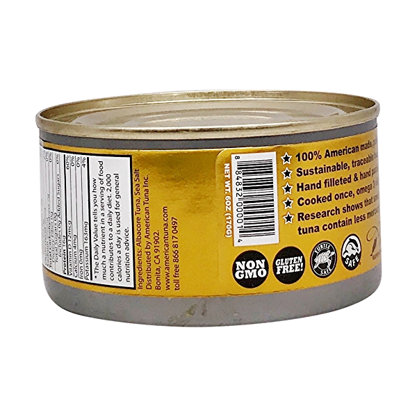 Pole Caught Albacore Tuna With Salt 3