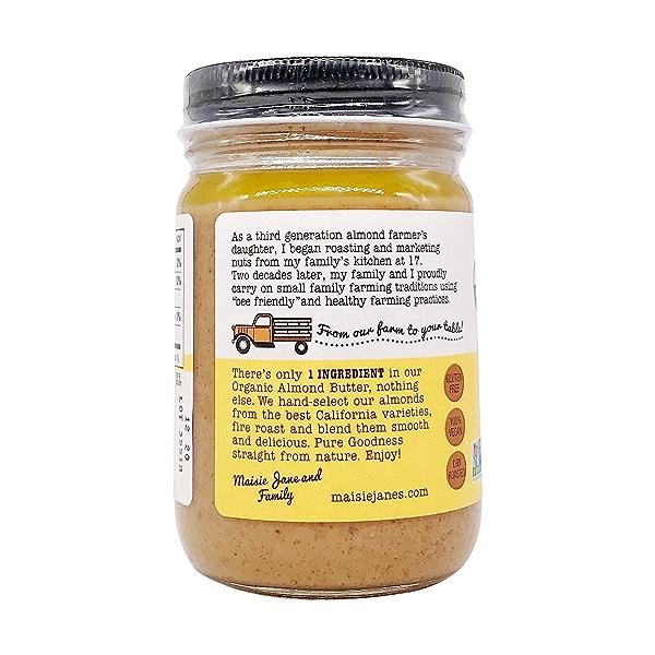 Organic Almond Butter Crunchy, 12 oz 3