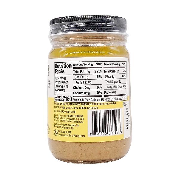 Organic Almond Butter Crunchy, 12 oz 2