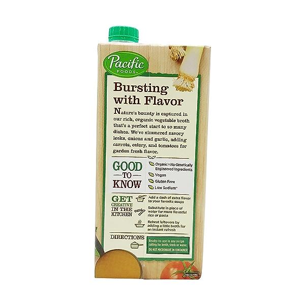 Organic Low Sodium Vegetable Broth, 32 fl oz 3
