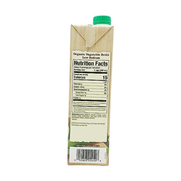 Organic Low Sodium Vegetable Broth, 32 fl oz 2