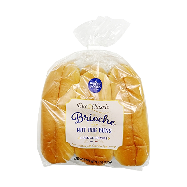 Brioche Hot Dog Buns 6 Count, 9.5 oz 1